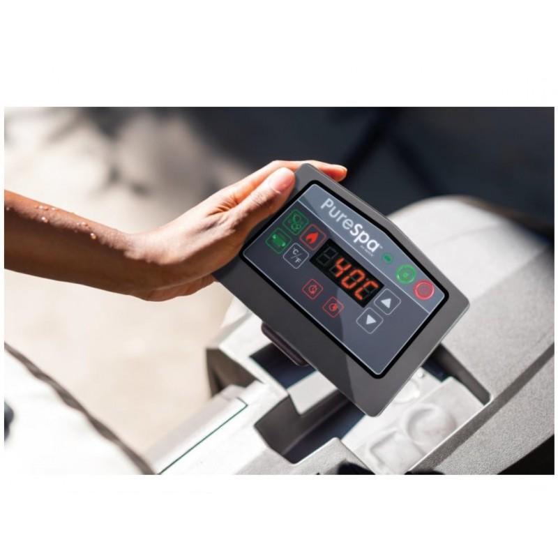 Basen Spa babelkowe z filtrem, podgrzewaczem i systemem odkamieniania wody 28404 Intex Pool Garden Party