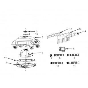 Zestaw do pływania - Wodna Przygoda - niebieski Intex