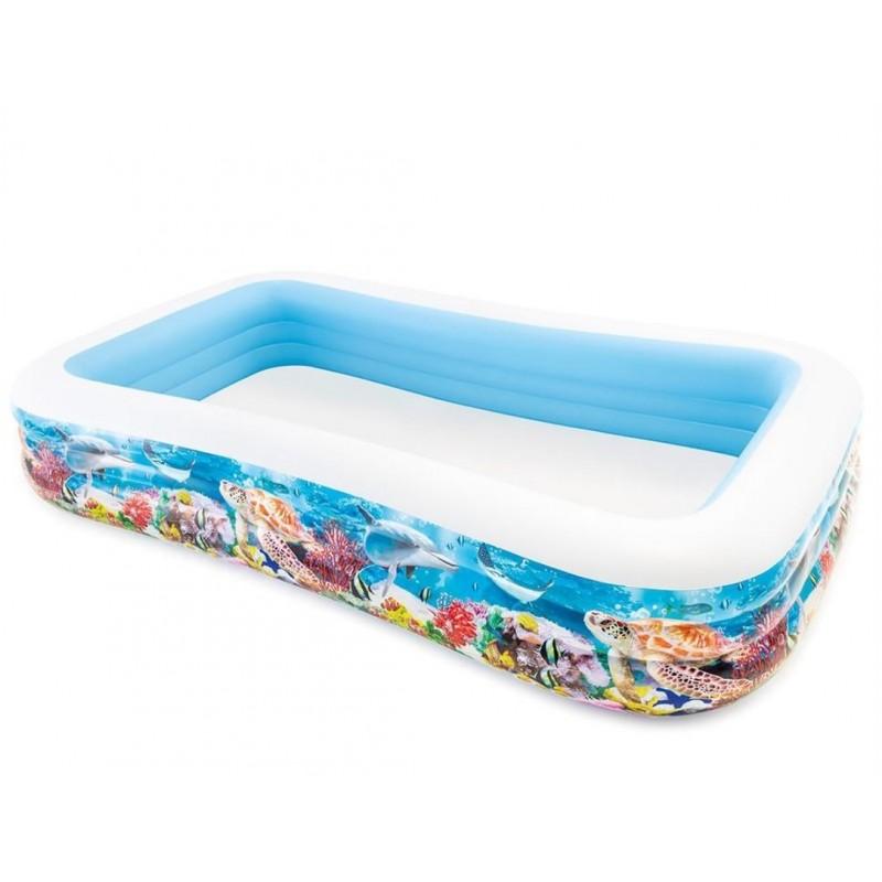Płetwy dla dzieci (38-40) zielone 55937 Intex Pool Garden Party