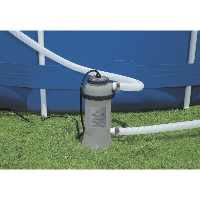 Materac do spania 99 x 151 x 51 cm Prime Comfort Elevated Twin z wbudowaną pompką elektryczną 64444 Intex Pool Garden Party