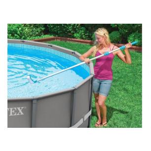 Materac, łóżko do spania 191x137x46 cm z panelem i wbudowaną pompką elektryczną Intex