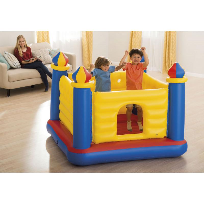 Materac do spania z wbudowaną pompką elektryczną PILLOW REST CLASSIC QUEEN 66781 Intex Pool Garden Party
