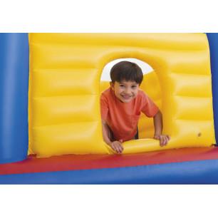 Materac do spania, flokowany Twin z wbudowana pompą nożną 66927 Intex Pool Garden Party