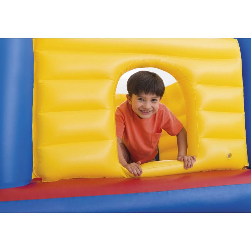 Materac do spania, flokowany 99 x 191 x 22 cm Downy Twin z wbudowaną pompą nożną 66927 Intex Pool Garden Party