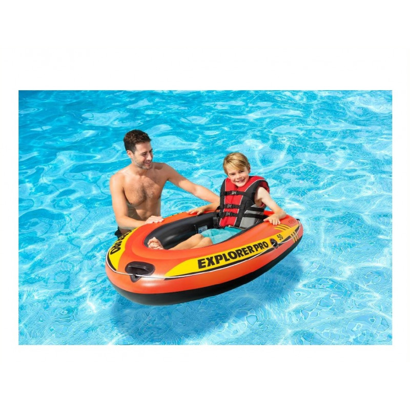 Materac - Kolorowy Plusk - zielony 58876 Intex Pool Garden Party