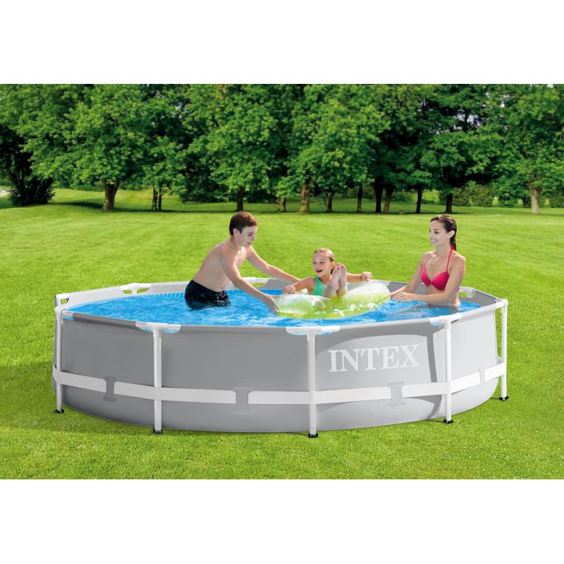 Materac do spania 137 x 191 x 25 cm Deluxe Single-High Full 64102 Intex Pool Garden Party