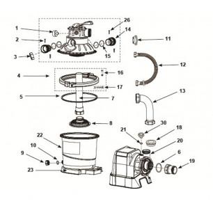 Deska surfingowa 58152 Intex Pool Garden Party