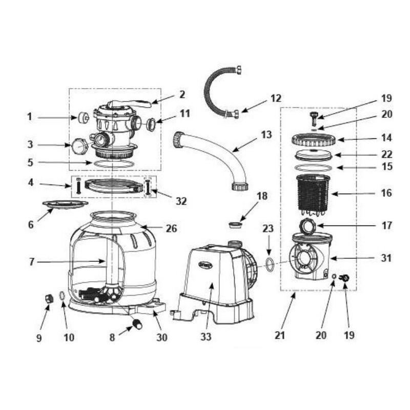 Pompa do wypompowywania wody basenowej 28606 Intex Pool Garden Party