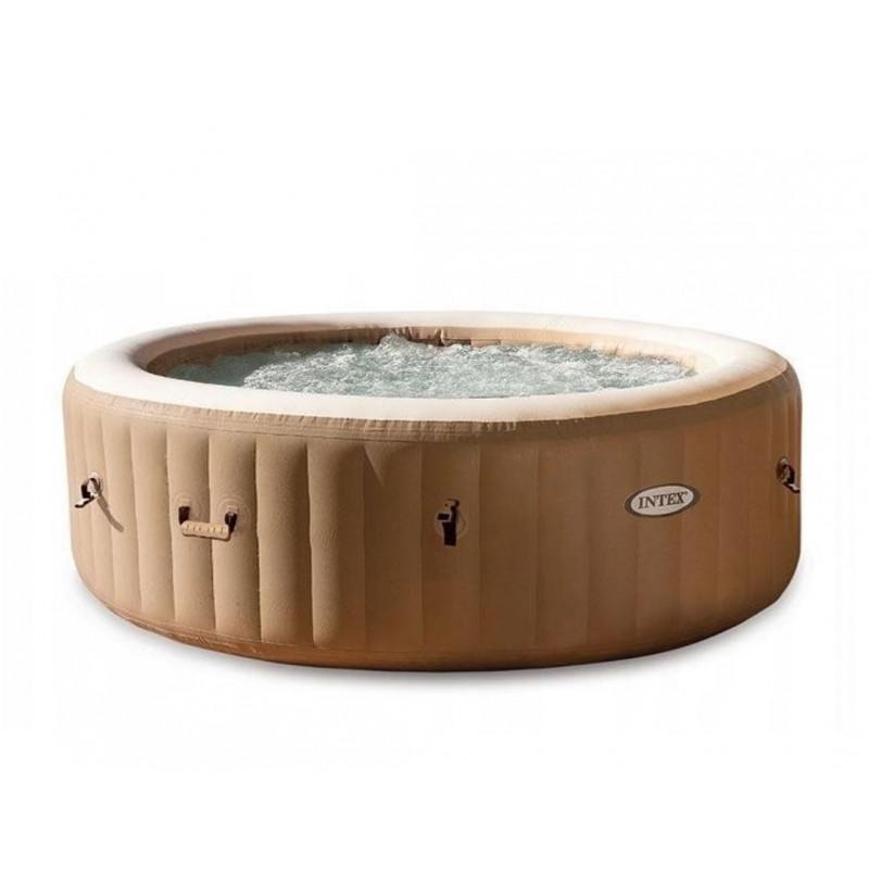 Poduszka turystyczna pompowana błękitna 68676 Intex Pool Garden Party