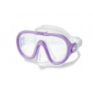 Maska do nurkowania - Wave Rider - fioletowa Intex