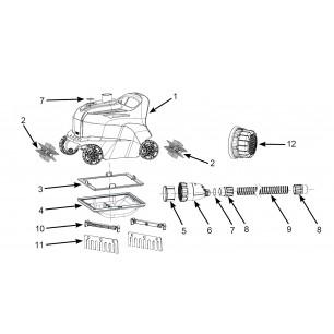 Materac - Pływający Fotel - żółty Intex