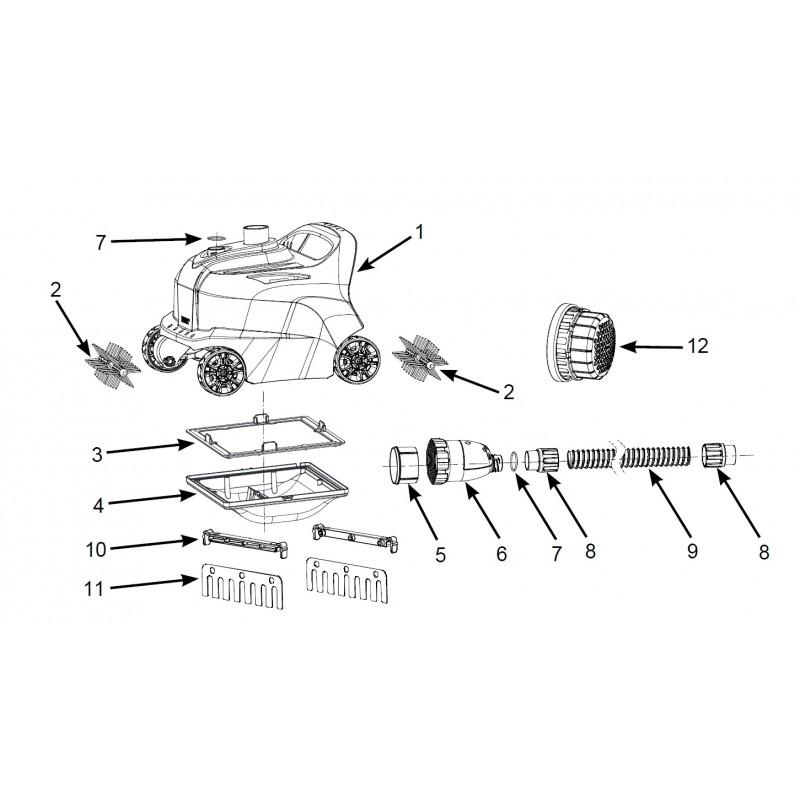 Materac - Pływający Fotel - żółty 58859 Intex Pool Garden Party