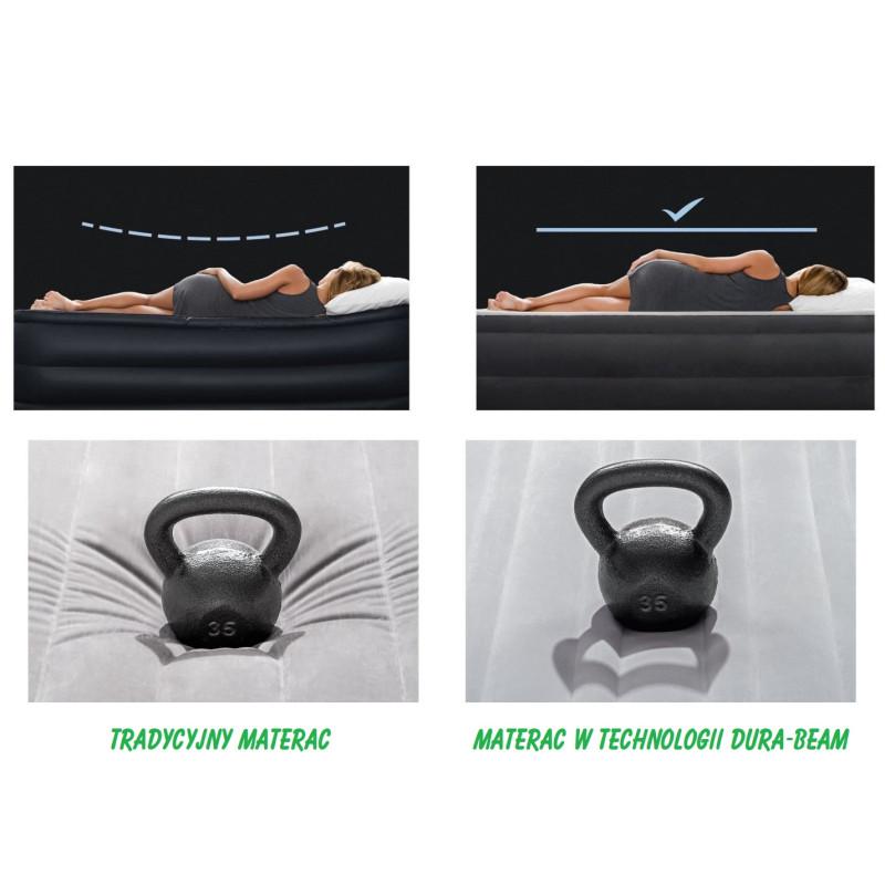 Basen stelażowy ultra prostokątny 488 x 244 cm - zestaw Prism 28318 Intex Pool Garden Party