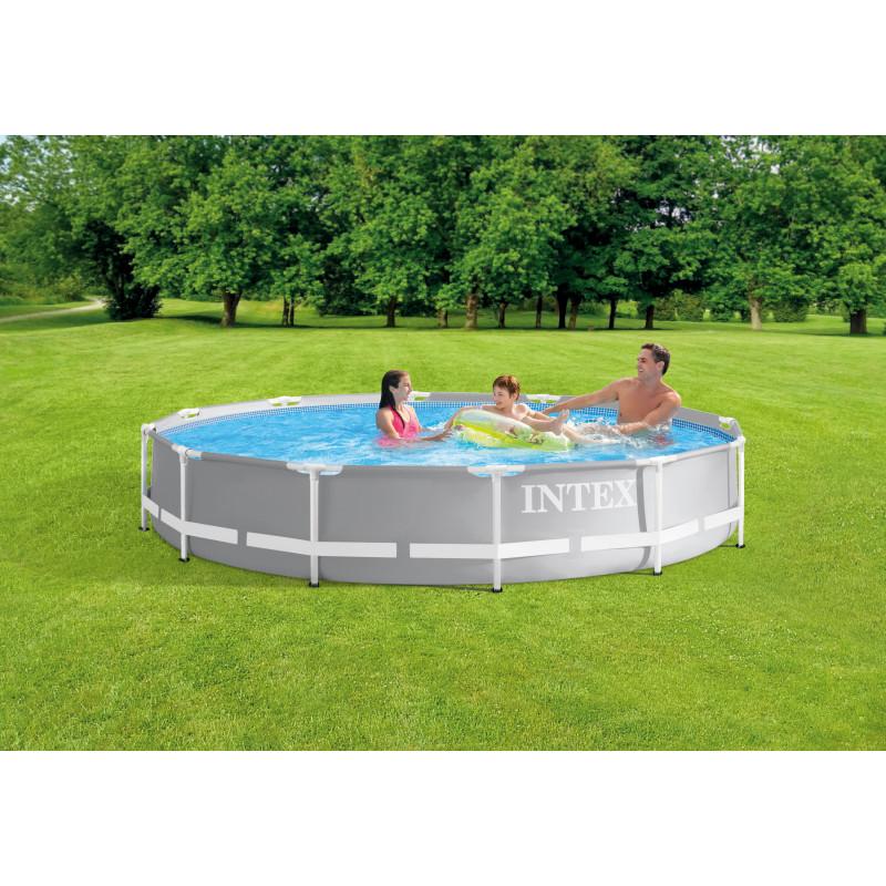 Materac do spania 152 x 203 x 25 cm Deluxe Single-High Queen 64709 Intex Pool Garden Party