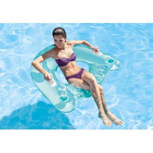 Materac - Pływający Fotel - niebieski Intex
