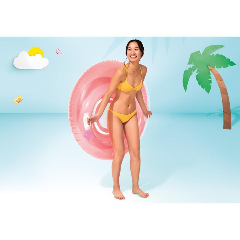 Materac z napisami - motyw plaży 58772 Intex Pool Garden Party
