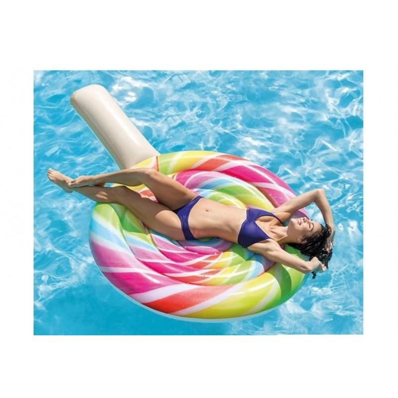 Koło do pływania Candy - pomarańczowe 56512 Intex Pool Garden Party
