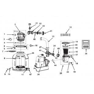 Koło do pływania z uchwytami 76 cm - pomarańczowe Intex