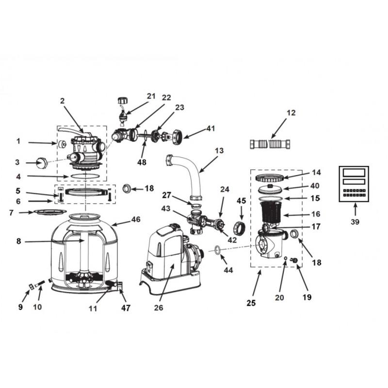 Koło do pływania z uchwytami 76 cm - pomarańczowe 59258 Intex Pool Garden Party